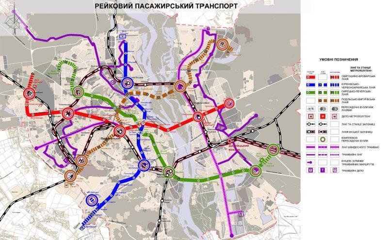 карта розвитку київського метрополітену